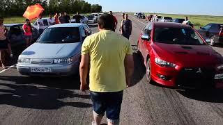Automobile racing Vaz 2112 тазы валят драг рейсинг ( ТЫХАН TV )