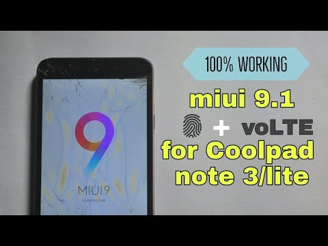 Miui Pro 9 5 3 For Coolpad Note 3 And Lite | Fp, Volte