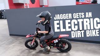 JAGGER GETS AN ELECTRIC DIRTBIKE | OSET BIKE