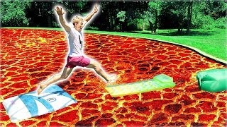FLOOR IS LAVA CHALLENGE!! - Video Youtube