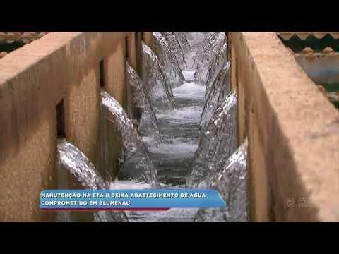 Manutenção na ETA II deixa abastecimento de água comprometido em Blumenau