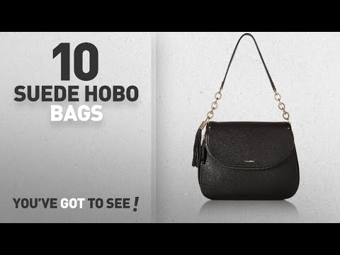 Top 10 Suede Hobo Bags For Women: Calvin Klein Lynn Pebble Flap Hobo Shoulder Bag