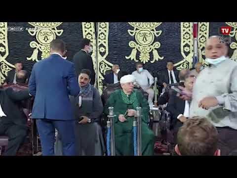 الشيخ ياسين التهامى يؤدي واجب العزاء في الحاج محمود العربي