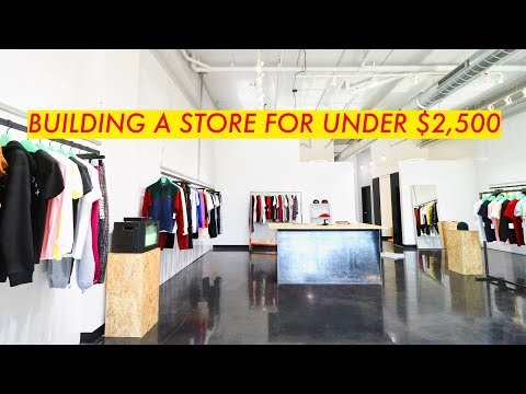 , title : 'How I Built a Clothing Store in a WEEK // For Under $2,500 // Modern Builds