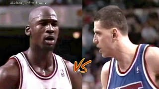 12.12.1992 Michael Jordan vs Drazen Petrovic Big Duel! MJ One Man Game & 63 Pts Total!