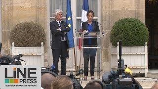 preview picture of video 'Passation de pouvoir écologie Philippe Martin Ségolène Royal / Paris - France 02 avril 2014'