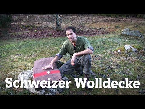 Schweizer Wolldecke  200 x 140 cm, braun, Trapper Decke   Outdoor AusrüstungTV