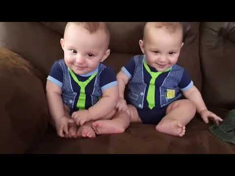 Cutest Twins Baby Playing Together