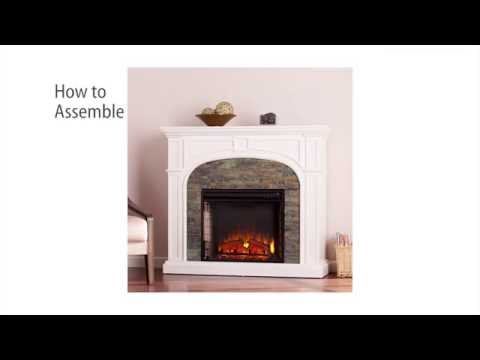 FE9624: Tanaya Stacked Stone Effect Electric Fireplace - White Assembly Video