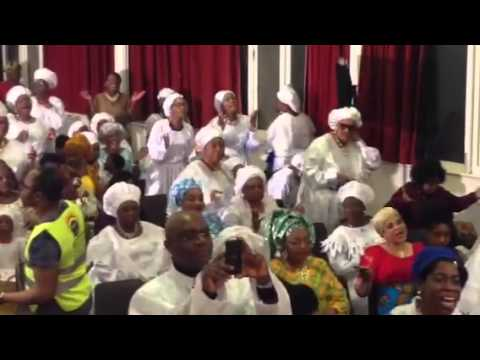 Tope Alabi live on stage in London for white city parish