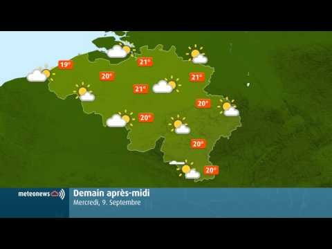 Video of Weather for Belgium + World