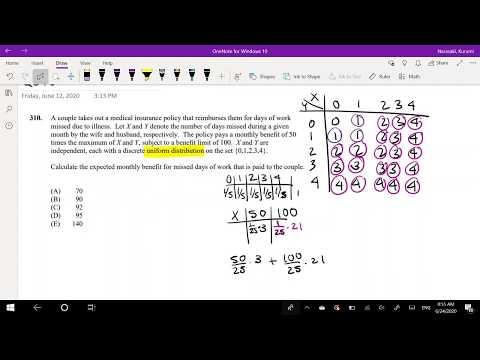 SOA Exam P Question 310 | Multivariate Discrete Expectation ...