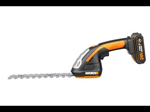 WG801E - Forbici a batteria Worx - 3 lame erba e siepi