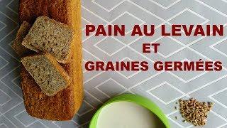 Pain levain+graines germées