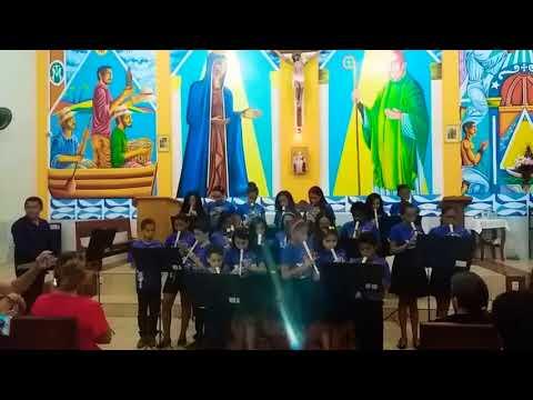 Em Araguanã(MA): Coral mirim de flauta, no Santuário Diocesano de Nossa Senhora Aparecida