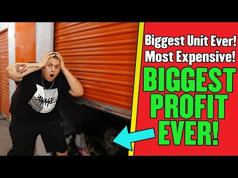 BIGGEST And MOST EXPENSIVE Storage Unit EVER! MASSIVE PROFITS! I Bought An Abandoned Storage Unit