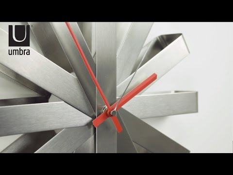Video for Ribbon Steel 12-Inch Wall Clock