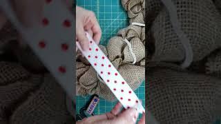 Adding Temporary Ribbon To Burlap Wreaths