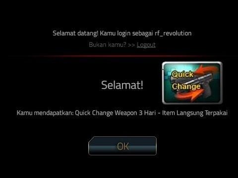 Video Kode Redeem dapat Quick Change Weapon 3 Hari PB Garena Gratis
