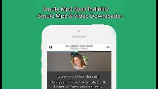 Smule Mp3 İndir - Smule Mp3 Ve Video Download (ios Ve Android)