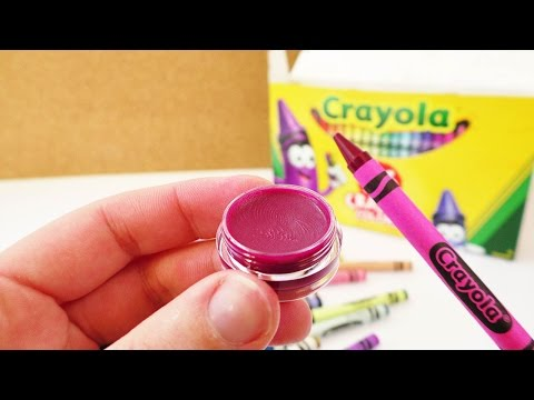 Wachsmalstift Lippenstift   Lippenbalsam selber machen   Crayon Coconut Oil Lipstic