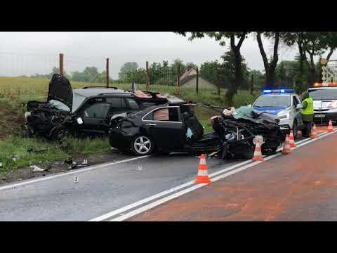 Wideo: Zderzenie czołowe w Nielubi