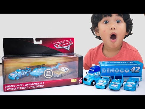 Unboxing NEW DISNEY CARS TOYS 2018 Diecast DINOCO 3 PACK ROTOR TURBOSKY Dinoco HELICOPTER