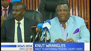 KNUT withdraw court cases as union members pledge to work together for the well being of teachers