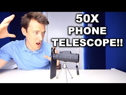 50X PHONE MONOCULAR TELESCOPE REVIEW!!!