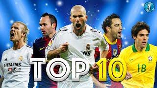 Top 10 Legendary Midfielders In Football ● Ricardo Kaká ● Zinedine Zidane ● David Beckham ● & More
