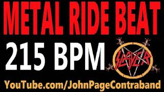 Metal Ride Beat 215 bpm Slayer Style Drums Only Track Loop