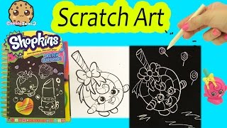 Shopkins Sketch Surprise Scratch Drawing Art Book Scratching Lolli Poppins Cookieswirlc