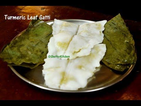 Manjal Iretha Gatti | Turmeric Leaf Gatti | Turmeric leaf aapam | Turmeric leaf recipe
