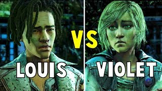 Appeal to Louis vs Appeal to Violet All ENDINGS - The Walking Dead The Final Season