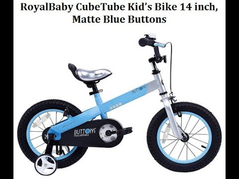 RoyalBaby CubeTube Kid's bikes Matte Blue Buttons, 14 inch - Best Kids Ride on Toys