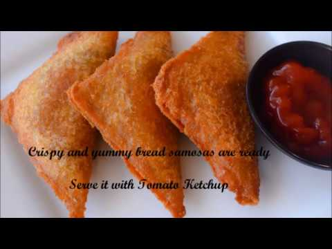 Quick and Simple Bread Samosa / My innovative Recipe | Kids Snack Recipes - By Sritha's Kitchen