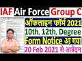 Air Force Group C Recruitment 2021 Form ¦¦ Air Force Group C Vacancy 2021 Offline Form Kaise Bhare