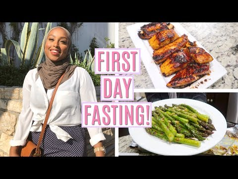 FIRST DAY OF FASTING WITH THE FAM! | Maple Glazed Salmon Recipe | #TheRamadanDaily