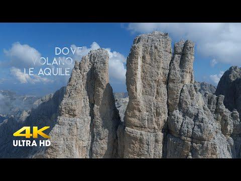 DOVE VOLANO LE AQUILE - Sopra le Dolomiti Occidentali (4K)