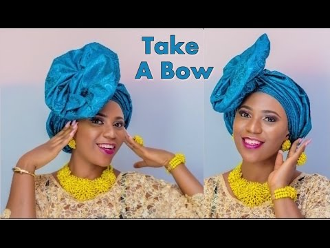 How to tie Take A Bow Gele Headgear -  Full Tutorial