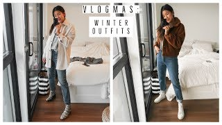EASY WINTER OUTFIT IDEAS | WHAT I WORE | VLOGMAS !! 4