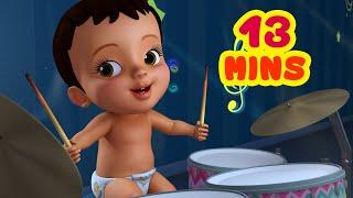 சிட்டியின் ஜோரான தாளங்கள் - Kids Play | Tamil Rhymes for Children | Infobells