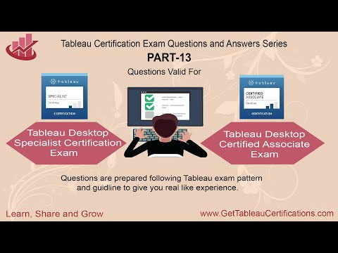 Tableau Certification Exam Questions Part - 13 - YouTube