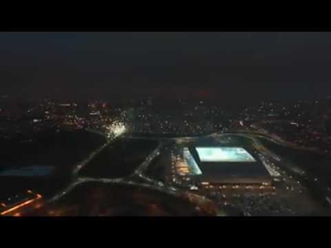 Vista aérea da Arena Corinthians na final do Paulistão