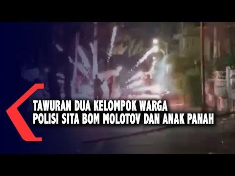 tawuran dua kelompok warga polisi sita bom molotov dan belasan anak panah