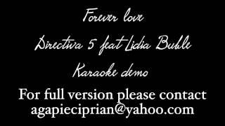 directia 5 feat. Lidia Buble - Forever love ( karaoke )