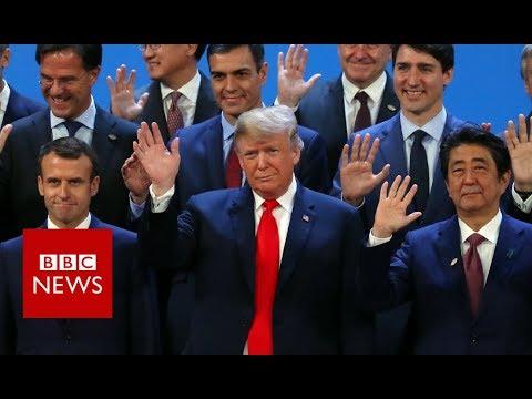 The G20 photo ahead of Friday's plenary session - BBC News