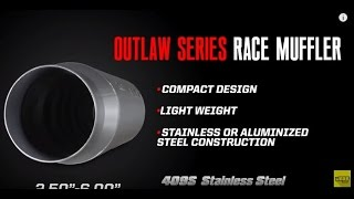 Flowmaster Outlaw 10 30 40 50 60 Laminar Flow Super Series Race Mufflers & Silencers Explained