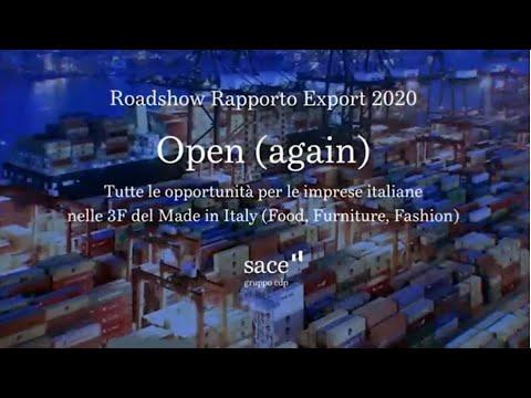 Roadshow Rapporto Exporto 2020   Focus 3F: Food, Furniture, Fashion