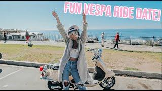 fun vespa ride date, night time skincare routine! vlogmas day 20!